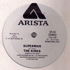 "Kinks Superman 3:48 5:58 ex US promo 12"" Arista SP-45 1979 Ray Davies disco rock"