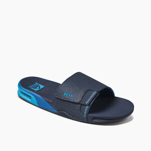 Reef Men's Fanning Slide Bottle Opener Sandals - Ocean NWT