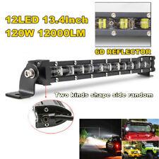 "13.4"" 120W Car Off-road Truck Slim Thin Single Row Flood LED Spot Work Light Bar"