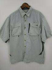 Natural Gear Men's Grey Vented Back Fishing Shirt Size XL