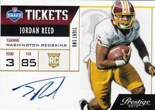 2013 Prestige Jordan Reed Rookie On Card Auto Redskins TE