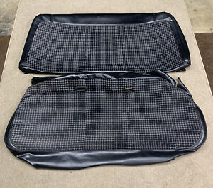 86-92 Jeep Comanche MJ Pickup Bench Seat Covers OEM Black Rare