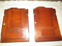 ANTIQUE PAIR WALNUT WOOD PORTRAIT PLATE FILM HOLDERS VINTAGE PHOTOGRAPHY INLAID