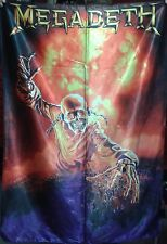 MEGADETH Vic Rattlehead FLAG CLOTH POSTER WALL TAPESTRY BANNER CD Thrash Metal