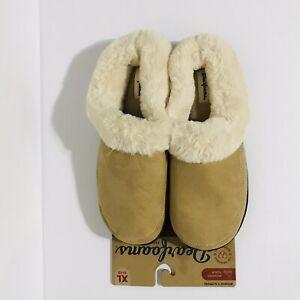 Dearfoams Women's Memory Foam Slippers Size XL (11-12) Brown New