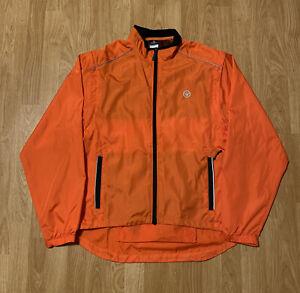 Canari Orange Windbreaker Cycling Jacket Size Men's Large
