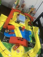 Vintage 1976 Matchbox City Playset Vynil Case Missing Pieces Cars Not Included