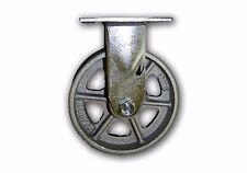"""6"""" x 2"""" Rigid Steel Caster 1250# Capacity w/ Semi Steel Albion Wheel Heavy Duty"""