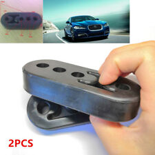 2Pieces 11mm Car Rubber Exhaust Tail Pipe Mount Brackets Hanger Insulator 4-Hole