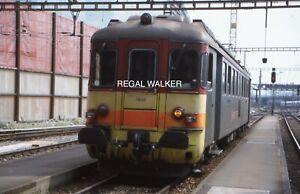 ORIGINAL 35MM OBB SWISS SWITZERLAND RAILWAY SLIDE - 4/4 1402 AT BASEL 1999