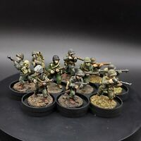Painted 28mm Bolt Action us winter infantry ×10 Squad #3 old bolt action casts