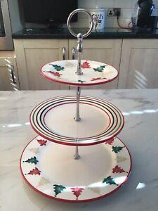 Laura Ashley China - Large Three Plate - Christmas Cake Stand