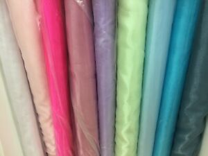 ORGANZA SNOW FABRIC 56-58'/148 cm WIDE-100% NYLON - 45 gsm VOILE FABRIC 1 CAT A+
