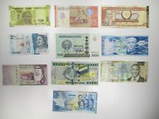 Lot of 10 Different Current Banknotes World Paper Money Foreign Currency Lots
