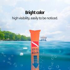 Scuba Diving Surface Marker Buoy Signal Tube Inflatable Safety with Storage Bag
