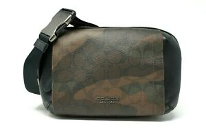 Coach Men's Graham Signature Camo Print Utility Pack Sling/Fanny Bag F40650
