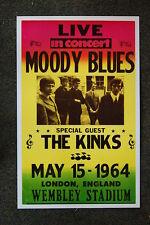 The Moody Blues Tour Poster 1964 Wembley Stadium London