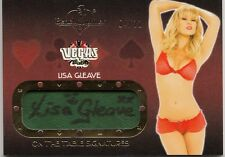 Lisa Gleave 2013 Benchwarmer Vegas Baby On the Table AUTO Card 4/11 *I356