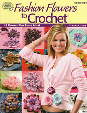 """""""18~FLOWERS & PURSE & HAT""""~Crochet PATTERN BOOK ONLY~SEE PICTURES~NEW"""