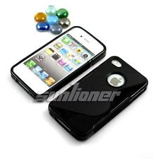 Black Gel TPU Case Cover Skin for iPhone 4S or iPhone 4
