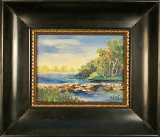 Vintage Canadian Impressionist Style Oil Painting - Initialed - Mid 20th Century