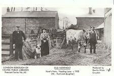London Postcard - Old Northolt - Hunt's Farm - Yeading Lane c1903  U558