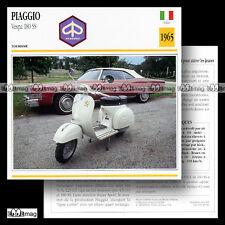 #029.06 Scooter PIAGGIO VESPA 180 SS 1965 Fiche Moto Motorcycle Card