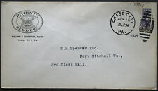Cover - True 3 Cent Bisect to 1 1/2 Ct 3rd Class Mail rate - Chase Va S24