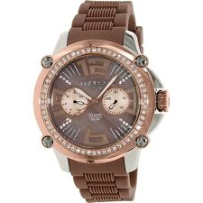 MULCO DAY & DATE BROWN DIAL BROWN SILICONE STRAP LADIES WATCH MW2 28050S 034 NEW