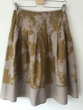 Topshop Skirt Size 12 Gold Beige Print Cotton Skirt Size 12 Bnwot