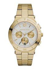 Michael Kors MK5933 Wyatt White Dial Gold Tone Ion Plated Steel Women's Watch