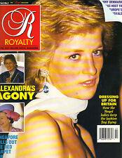 PRINCESS DIANA UK Royalty Magazine 11/89 Vol 9 No 2 ALEXANDRA QUEEN ELIZABETH