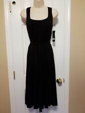 NWT Lauren By Ralph Lauren Black Stretch Women's Dress, Size 8, MSRP $169