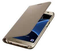 Original Samsung Galaxy S7 Flip Wallet Cover Tasche Schutzhülle Case Gold