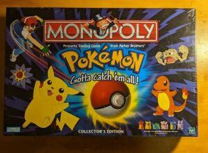 Pokemon Monopoly NIB 1999 Hasbro SEALED Parker Brothers Collectors Edition