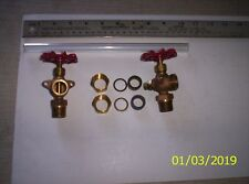 """Steam Boiler Sight Glass Valve Set with10"""" sight glass, less Guide Rods.USA"""