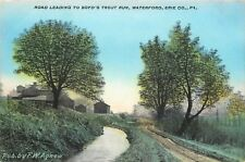 Waterford Pennsylvania~Dirt Road Leading Up to Boyd's Trout Run~Erie County~1910