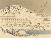 """Véritable Estampe Japonaise De Hiroshige """"Souvenirs D'edo"""""""