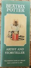 1988 Beatrix Potter Exhibition by Ford Brochure ~ Pierpont Morgan Library Nyc