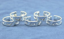 Wholesale Lots 10p  Silver footprint toe rings Adjustable