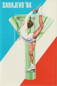 Cambodia 1984 Souvenir Sheet #469 Winter Olympics in Sarajevo - MNH