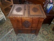 carved drinks cabinet solid Walnut Quality Made