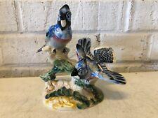 Vintage Beswick Large Porcelain American Blue Jays Bird on Flower #925