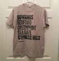 T1) New Jay-Z Men's Brooklyn Neighborhoods Concert Tour Silver T-Shirt Large