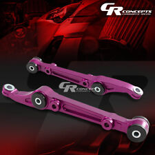 FOR 92-95 CIVIC 94-01 INTEGRA PURPLE SUSPENSION FRONT LOWER CONTROL ARMS+BUSHING