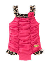Juicy Couture Leopard One Piece Little Girls Swimsuit $50 Msrp Size 4T New