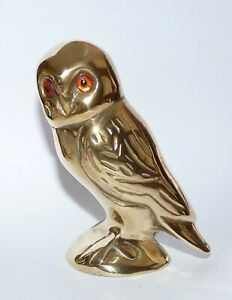 Vintage Brass Owl Ornament.