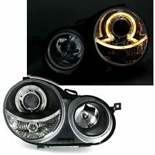 2 PHARES ANGEL EYES VW POLO 9N NOIR CRISTAL PHARE OPTIQUE 10/2001-05/2005