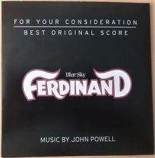 FERDINAND FYC Best Original Score John Powell For Your Consideration CD