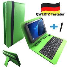 Deutsche Tastatur Hülle - Samsung Galaxy Tab A6 - 10.1 zoll Tasche Qwertz Grün